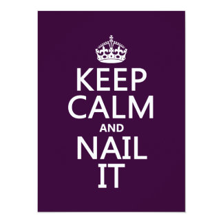 Keep Calm and Nail It Card