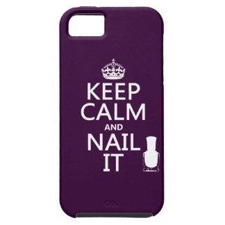 Keep Calm and Nail It (Nail polish) iPhone SE/5/5s Case