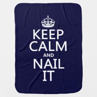 Keep Calm and Nail It (Nail polish) Swaddle Blankets