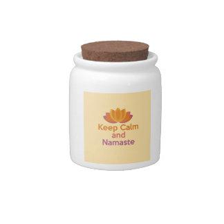 Keep Calm and Namaste - Yoga, Relax, Zen Candy Jar