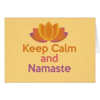 Keep Calm and Namaste - Zen, Yoga, Relax Card