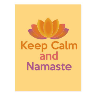 Keep Calm and Namaste - Zen, Yoga, Relax Postcard
