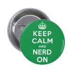 Keep Calm and Nerd On 2 Inch Round Button