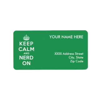 Keep Calm and Nerd On Label