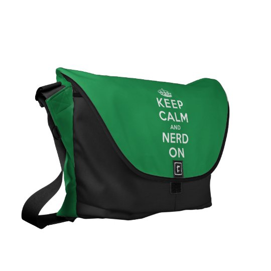 Keep Calm and Nerd On Messenger Bag