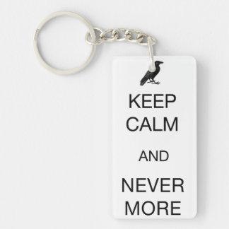 Keep Calm and Nevermore Rectangular Acrylic Key Chain