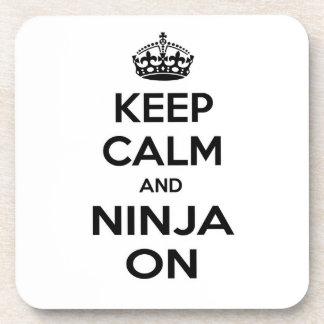 Keep Calm and Ninja On Beverage Coaster