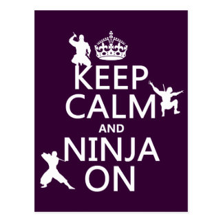 Keep Calm and Ninja On (in any color) Post Cards