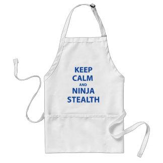 Keep Calm and Ninja Stealth Apron