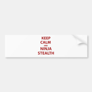 Keep Calm and Ninja Stealth Car Bumper Sticker