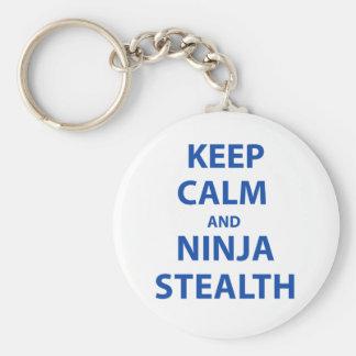 Keep Calm and Ninja Stealth Keychain