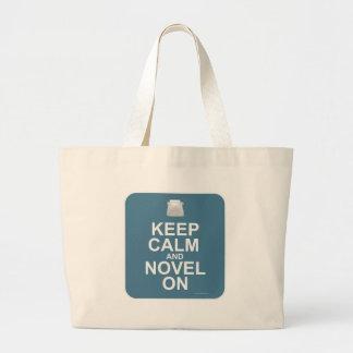 Keep Calm and Novel On! Tote Bag