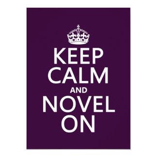 Keep Calm and Novel On Card