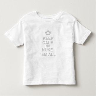 Keep Calm And Nuke Em All - Dictator War Funny Tees
