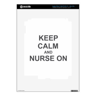 Keep Calm and Nurse On black gray blue products iPad 3 Decal