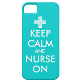 Keep Calm and nurse on iPhone 5 case | Turquoise