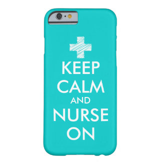 Keep Calm and nurse on iPhone 5 case | Turquoise iPhone 6 Case
