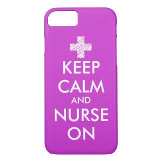 Keep Calm and nurse on iPhone case | Customize