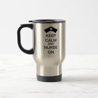 KEEP CALM AND NURSE ON MUG