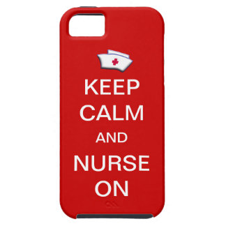 Keep Calm and Nurse On /Tomato Red iPhone SE/5/5s Case