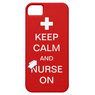 Keep Calm and Nurse On /White Cross and Nurse Cap iPhone SE/5/5s Case