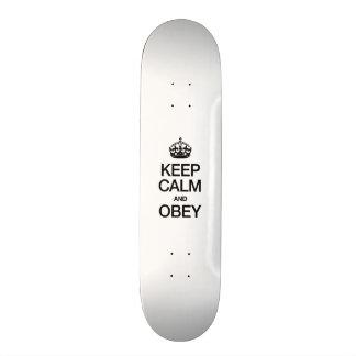 KEEP CALM AND OBEY SKATE BOARD DECK
