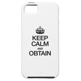 KEEP CALM AND OBTAIN iPhone SE/5/5s CASE