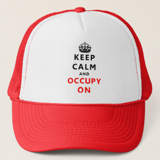 Keep Calm And Occupy On Hat