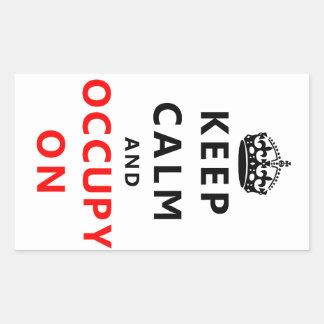 Keep Calm And Occupy On Rectangular Sticker