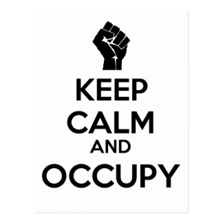Keep Calm and Occupy Postcards