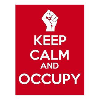Keep Calm and Occupy (version2) Postcard