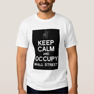 Keep calm and occupy wall street t-shirt (black)
