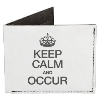 KEEP CALM AND OCCUR TYVEK WALLET