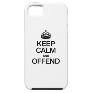 KEEP CALM AND OFFEND iPhone SE/5/5s CASE