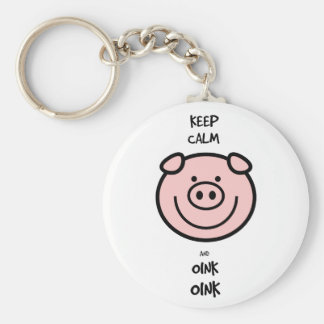 Keep calm and oink, oink! keychain