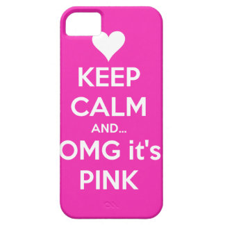 Keep calm and OMG... it's pink iPhone SE/5/5s Case