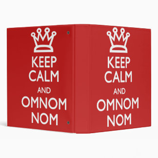 Keep Calm and Omnom Cook Book 3 Ring Binder
