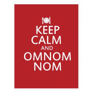 Keep Calm and Omnom Nom Postcard