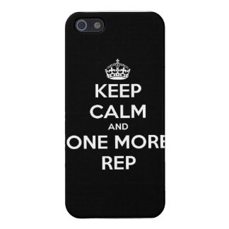 keep calm and one more rep case for iPhone SE/5/5s