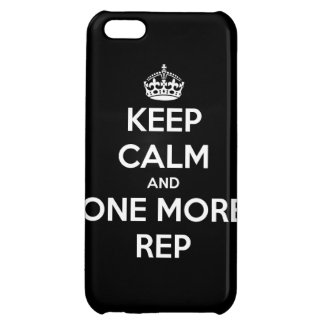 keep calm and one more rep iPhone 5C case