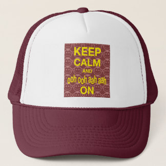 Keep Calm and Ooh Ooh Aah Aah On Monkey Art Print Trucker Hat