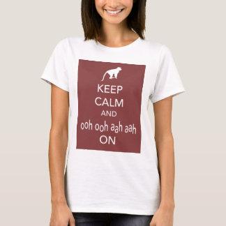 Keep Calm and Ooh Ooh Aah Aah On Monkey Print T-Shirt
