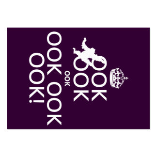 Keep Calm and Ook Ook Ook! All colors Large Business Cards (Pack Of 100)