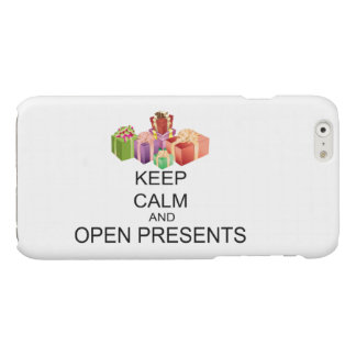 Keep Calm And Open Presents Glossy iPhone 6 Case
