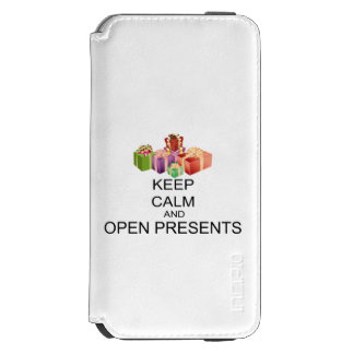 Keep Calm And Open Presents iPhone 6/6s Wallet Case