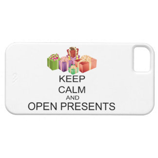 Keep Calm And Open Presents iPhone SE/5/5s Case