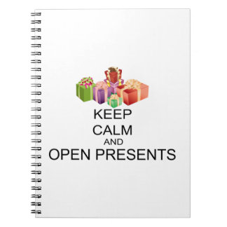 Keep Calm And Open Presents Notebook
