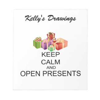 Keep Calm And Open Presents Notepad