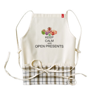 Keep Calm And Open Presents Zazzle HEART Apron