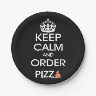 Keep Calm And Order Pizza Paper Plate